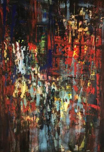 Hommage an Gerhard Richter 70cm mal 100cm Acryl auf Leinwand 630 Euro