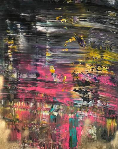 Abstraktes Bild 80cm mal 100cm Acryl auf Leinwand 680 Euro